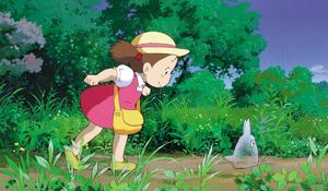 Mei chasing Totoro