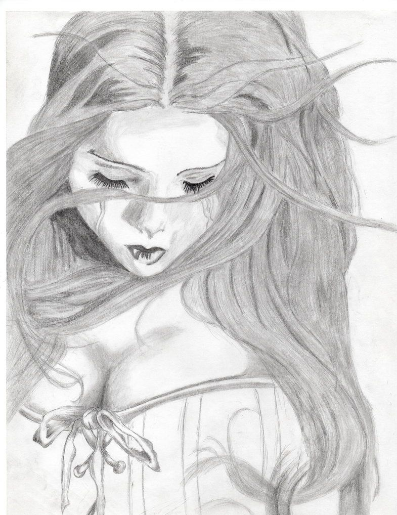 Art Girls Fb Status Pic Black And White Pencil Sketch