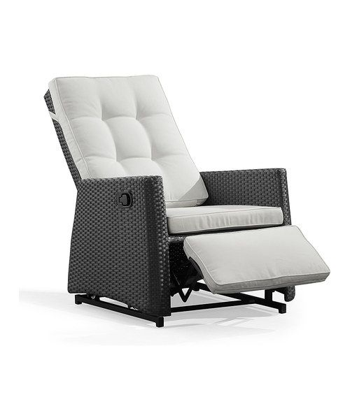 The Espresso Daytona Rocking Chair/Recliner on Zulily takes outdoor living to a whole new realm. Please don't hear this as criticism, we'd probably have to purchase 2 so my husband could enjoy it also!