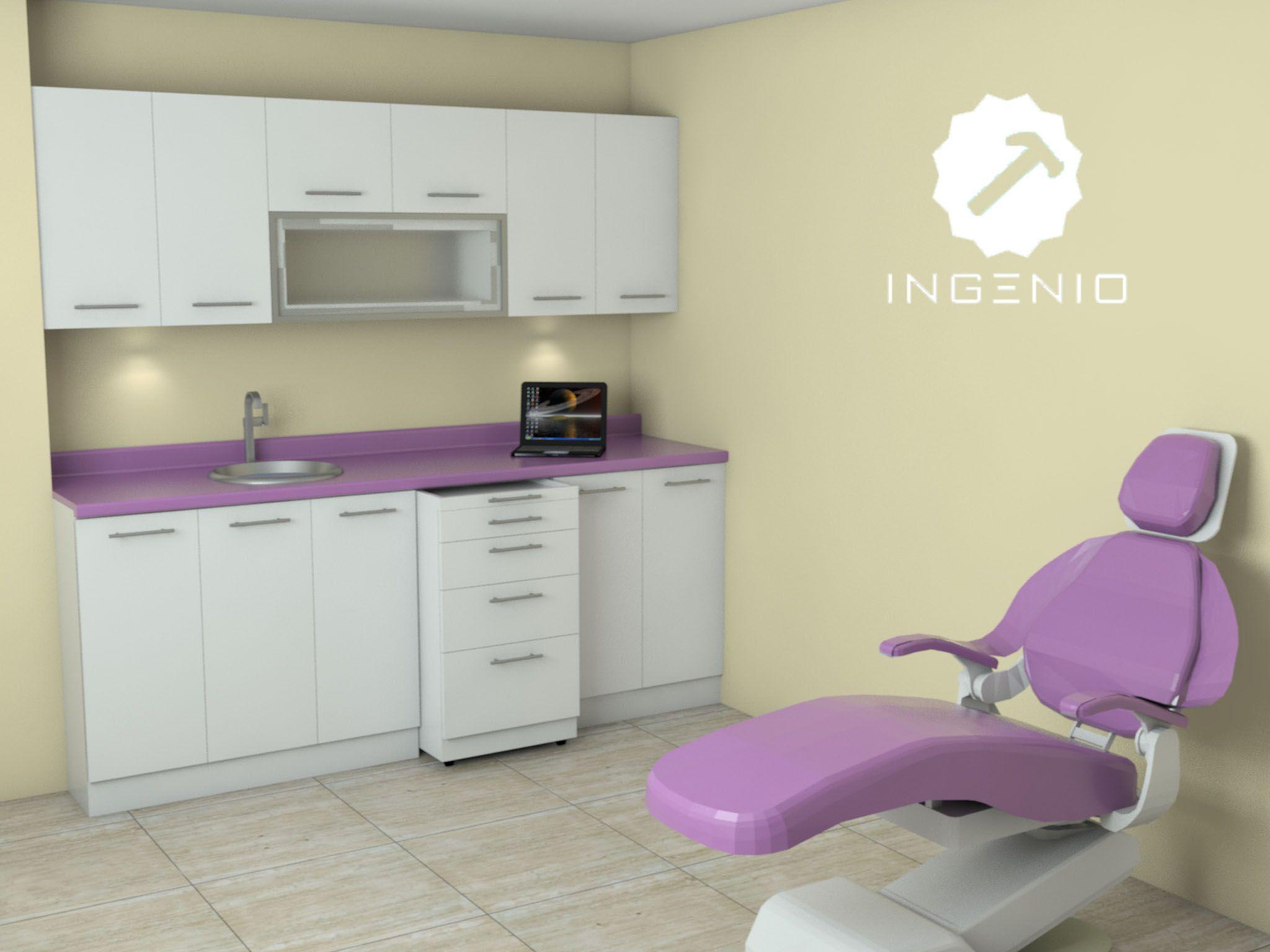 Consultorio dental detalles melamine blanca tropical con - Muebles para clinicas dentales ...