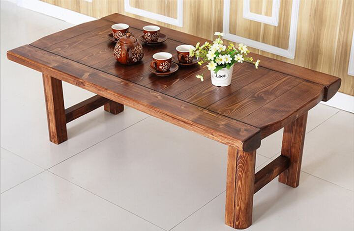 Vintage Furniture Wooden Table Folding Legs Rectangle 130cm Living
