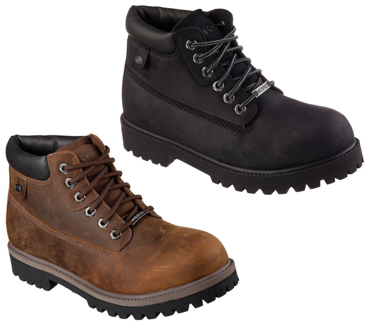 Mens skechers waterproof work style boots available in