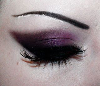 Dark purple eye makeup black goth