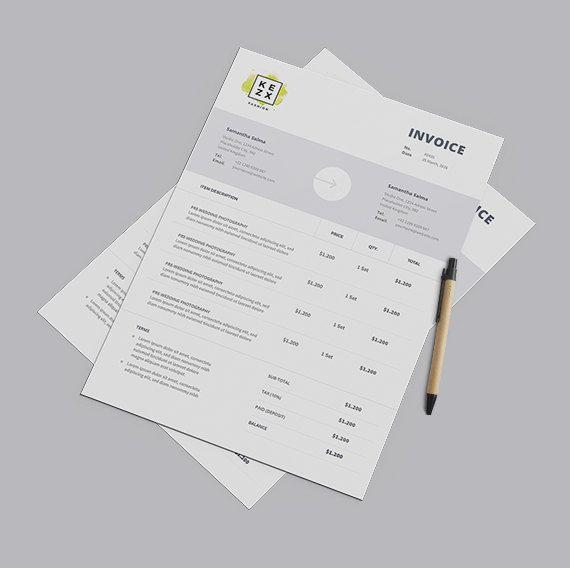 Invoice Template Receipt Ms Word Excel Auto Calculation Etsy Invoice Template Invoice Design Printable Invoice