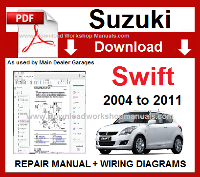 Suzuki Swift 2004 To 2011 Workshop Repair Manual Download Repair Manuals Chevrolet Captiva Suzuki Swift