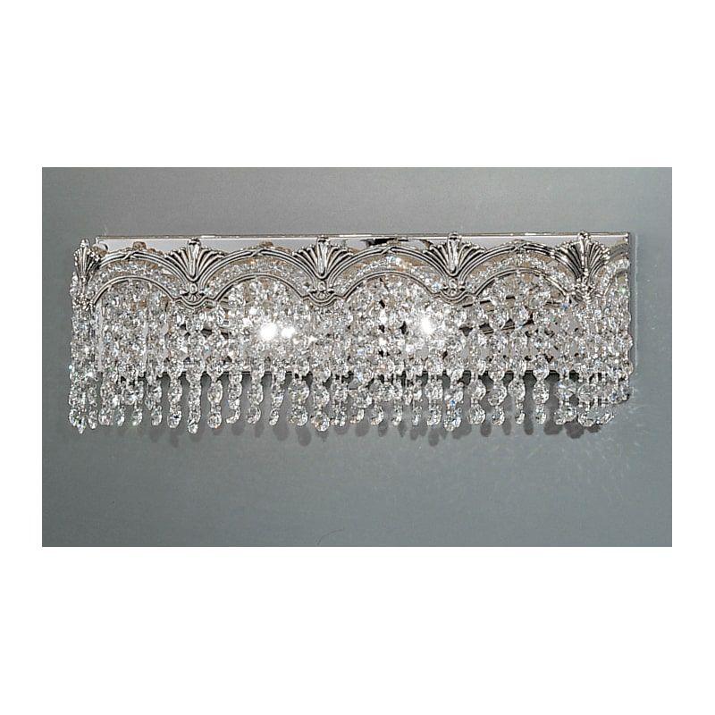 Photo of Classic Lighting 1851-CHB 6.5″ Crystal 2 Light Vanity from the Regency II Collec Swarovski Spectra Crystal Indoor Lighting Bathroom Fixtures Vanity