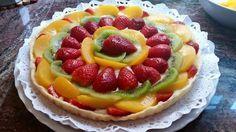 Recetas fáciles de Josean MG: Tarta de crema y frutas (+ xoco crujiente entre masa y crema)