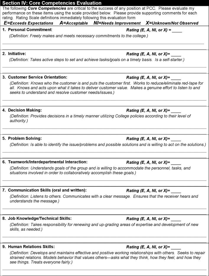 Employee Evaluation Form 2 Employee Evaluation Form Evaluation Employee Evaluation Form