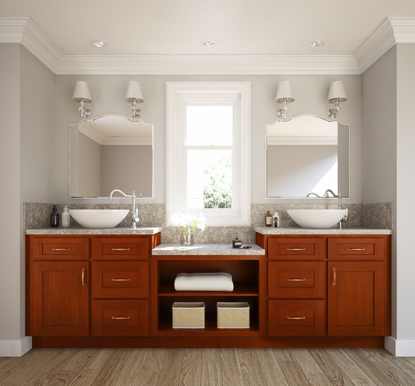 Shaker Cabernet Ready To Assemble Bathroom Vanities Bathroom Vanities Bathroom Vanity Beautiful Kitchen Cabinets Vanity