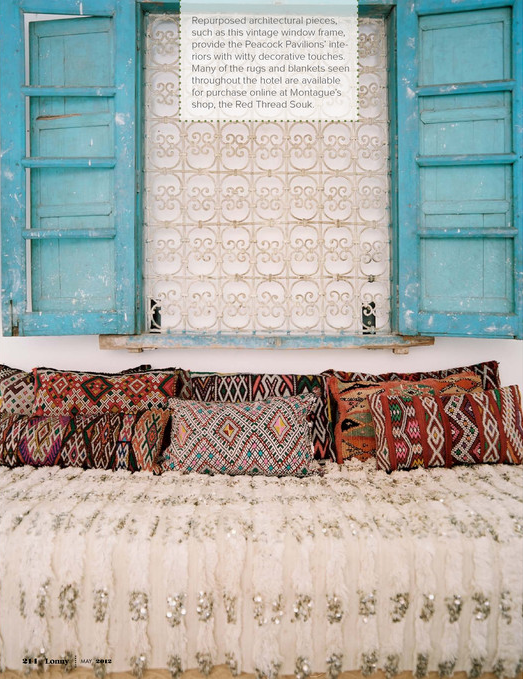 decorology: The talented Maryam of My Marrakesh reveals Peacock Pavillions to Lonny Mag