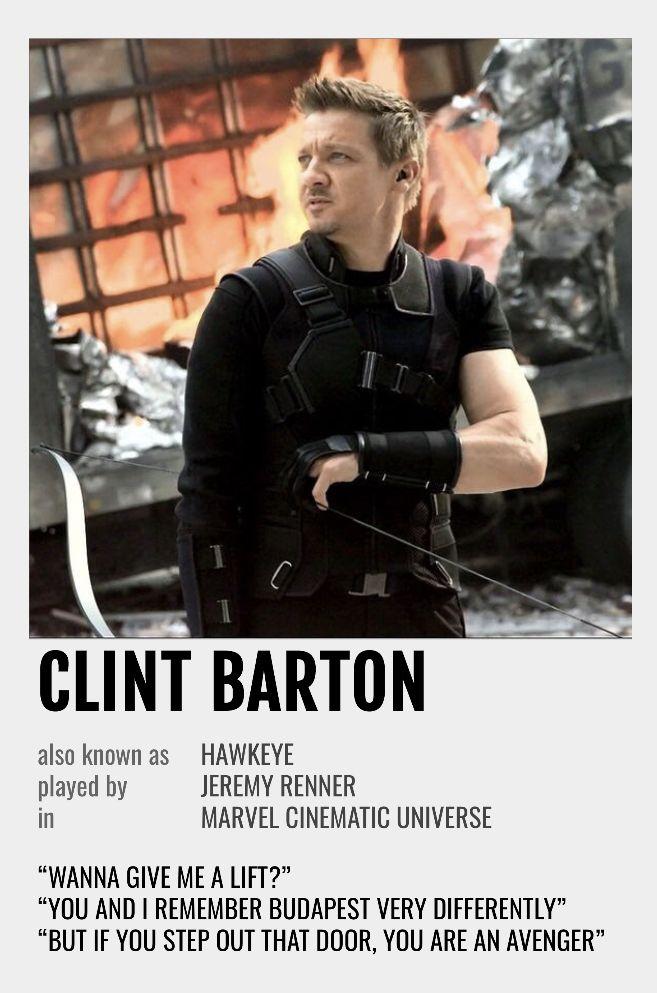 Clint Barton Polaroid Poster