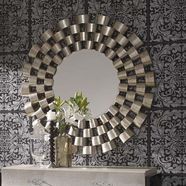 This Beautiful Clinks Round Mirror Exudes Elegance And