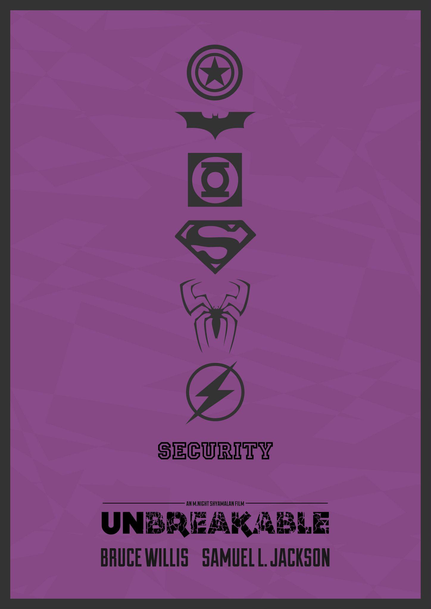 unbreakable minimalist poster cinema minimal movie