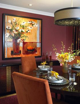 Red Wine Colored Decor Is Always A Good Choice For Dining Room