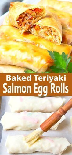 Baked Teriyaki Salmon Egg Rolls- Baked Teriyaki Salmon Egg Rolls  Delicious and light Baked Teriyaki Salmon Egg Rolls can…  -#shellfishrecipesappetizers #shellfishrecipesgarlicsauce #shellfishrecipeshealthy #shellfishrecipessummer #shellfishrecipesvideos #teriyakisalmon Baked Teriyaki Salmon Egg Rolls- Baked Teriyaki Salmon Egg Rolls  Delicious and light Baked Teriyaki Salmon Egg Rolls can…  -#shellfishrecipesappetizers #shellfishrecipesgarlicsauce #shellfishrecipeshealthy #shellfishrecipess #teriyakisalmon
