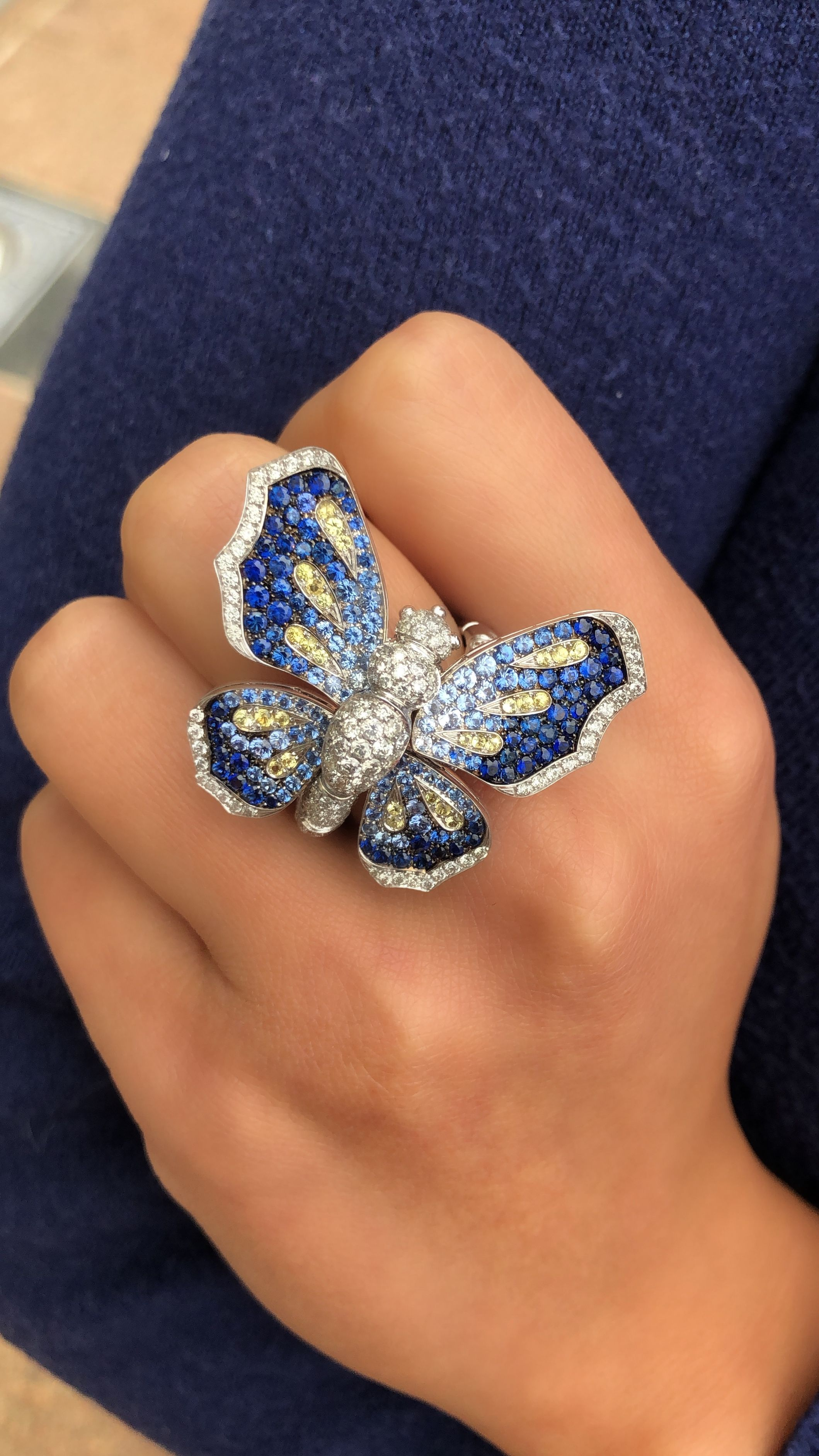 Reversible butterfly ring Butterfly ring, Gold butterfly