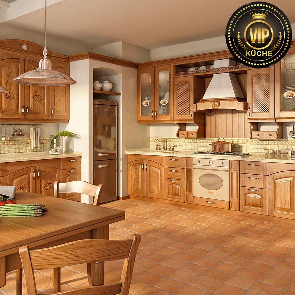 Schöne Küche im Landhausstil Küchenblock im warmen