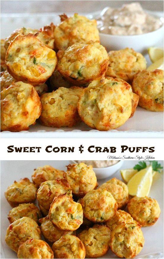 Sweet Corn And Crab Puffs Crab Recipes Seafood Recipes
