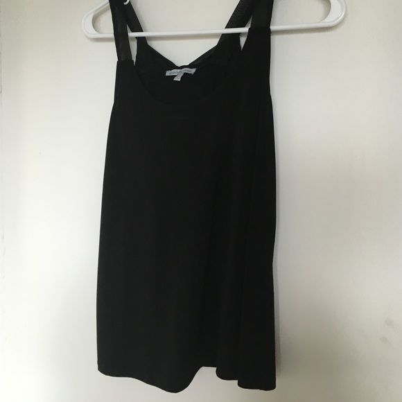 Black Charlotte Russe tank top with bow Black light weight tank top with a bow accent on the back. Size small. Charlotte Russe Tops Tank Tops