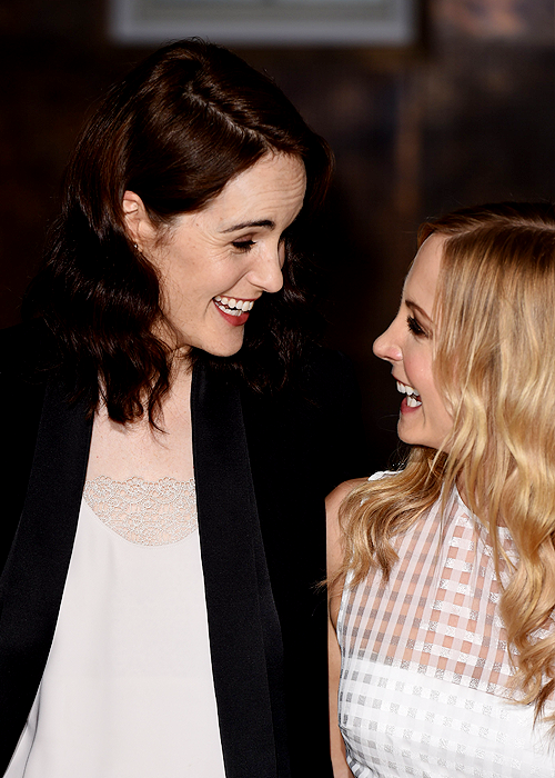 Michelle Dockery and Maggie Smith - Downton Abbey, season 6 press launch and photo call