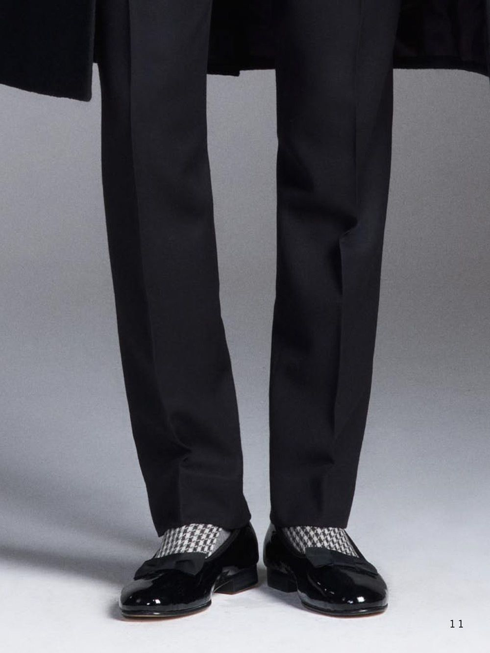 ceda35272e4 Dressed to kill in houndstooth socks and patent leather opera pumps ZsaZsa  Bellagio – Like No Other  menswear