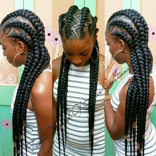 African American Cornrow Hairstyles Pictures Braids Pinterest