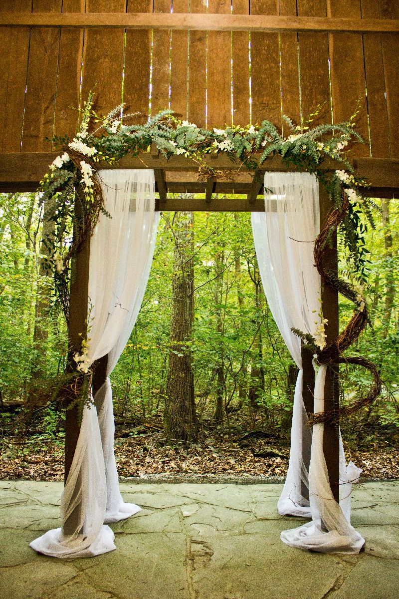 Diy Wedding Arbor Decor Different Flower Arrangement Maybe