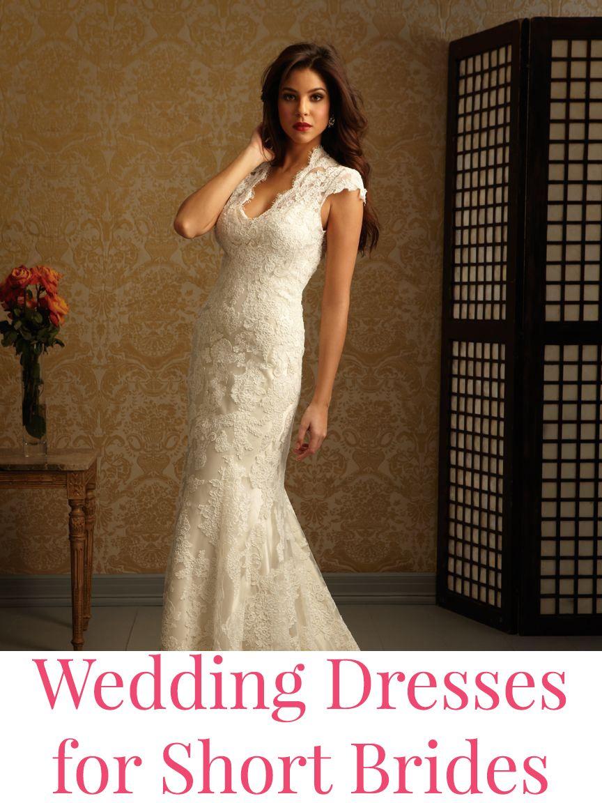 Wedding Dresses For Short Brides Wedding Dress Train Wedding Dresses Lace Allure Bridal [ 1152 x 864 Pixel ]
