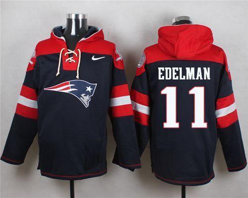 Julian Edelman #11 New England Patriots Navy Blue Pullover Hoodie