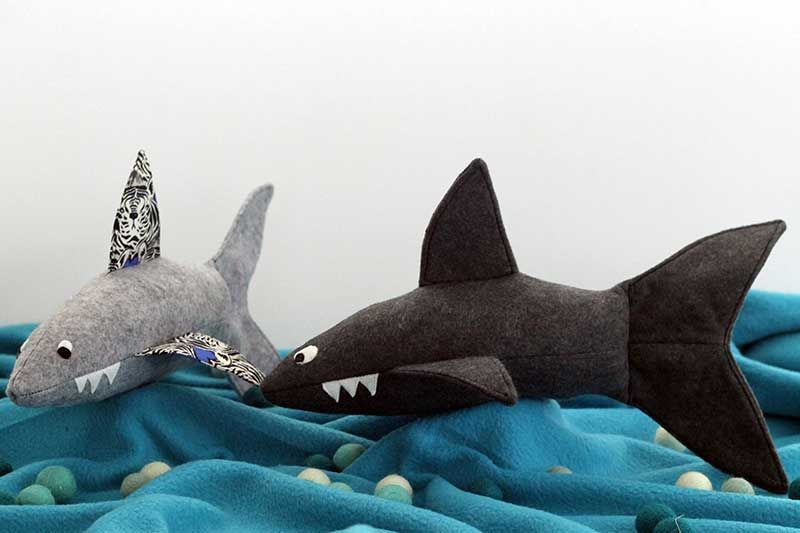 Friendly Shark Softie Free Pattern + Tutorial | Sharks and Ships ...