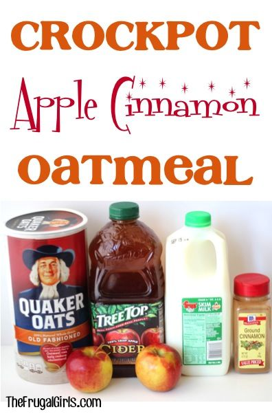 Crockpot Apple Cinnamon Oatmeal Recipe From Thefrugalgirls Com Cozy Up This Winter With This Delicious Thick And Hearty Slow Cooker Oatmeal Recipes Food
