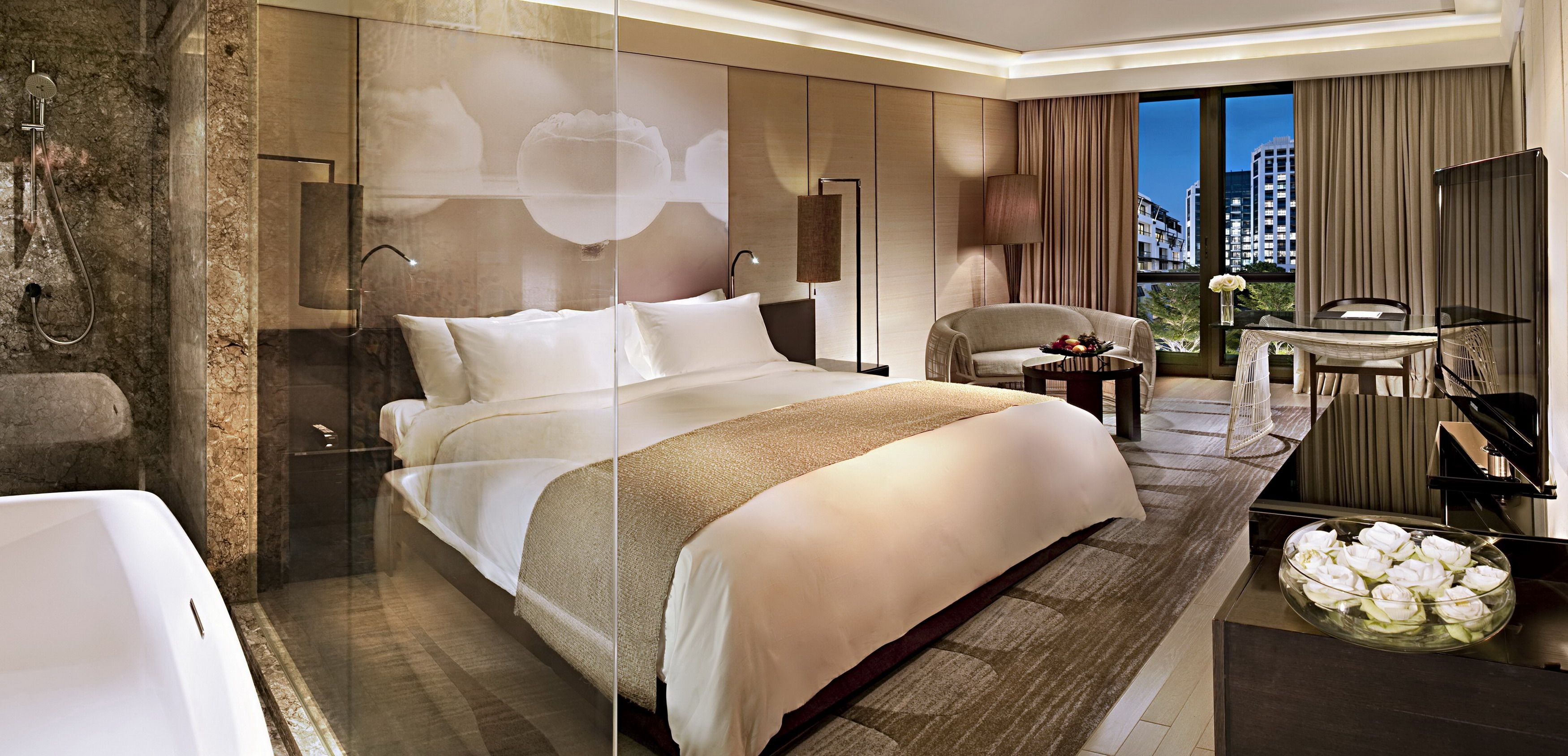 Luxury hotel rooms pictures new luxury kempinski hotel for Hotel bedroom design
