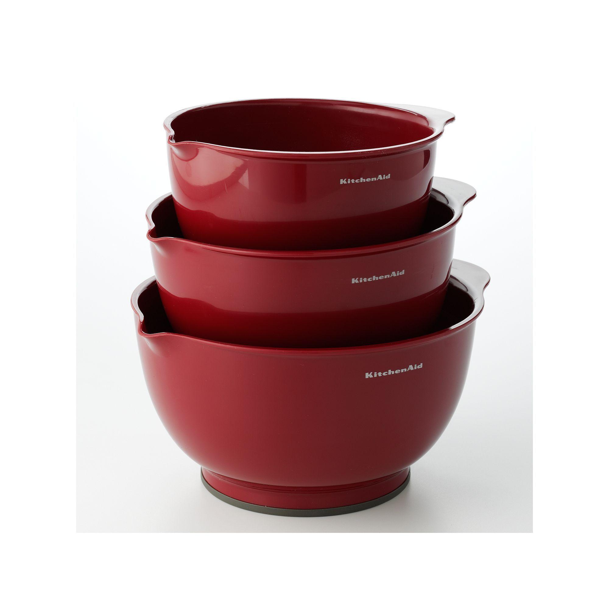 Kitchenaid 3pc mixing bowl set bowl set kitchenaid