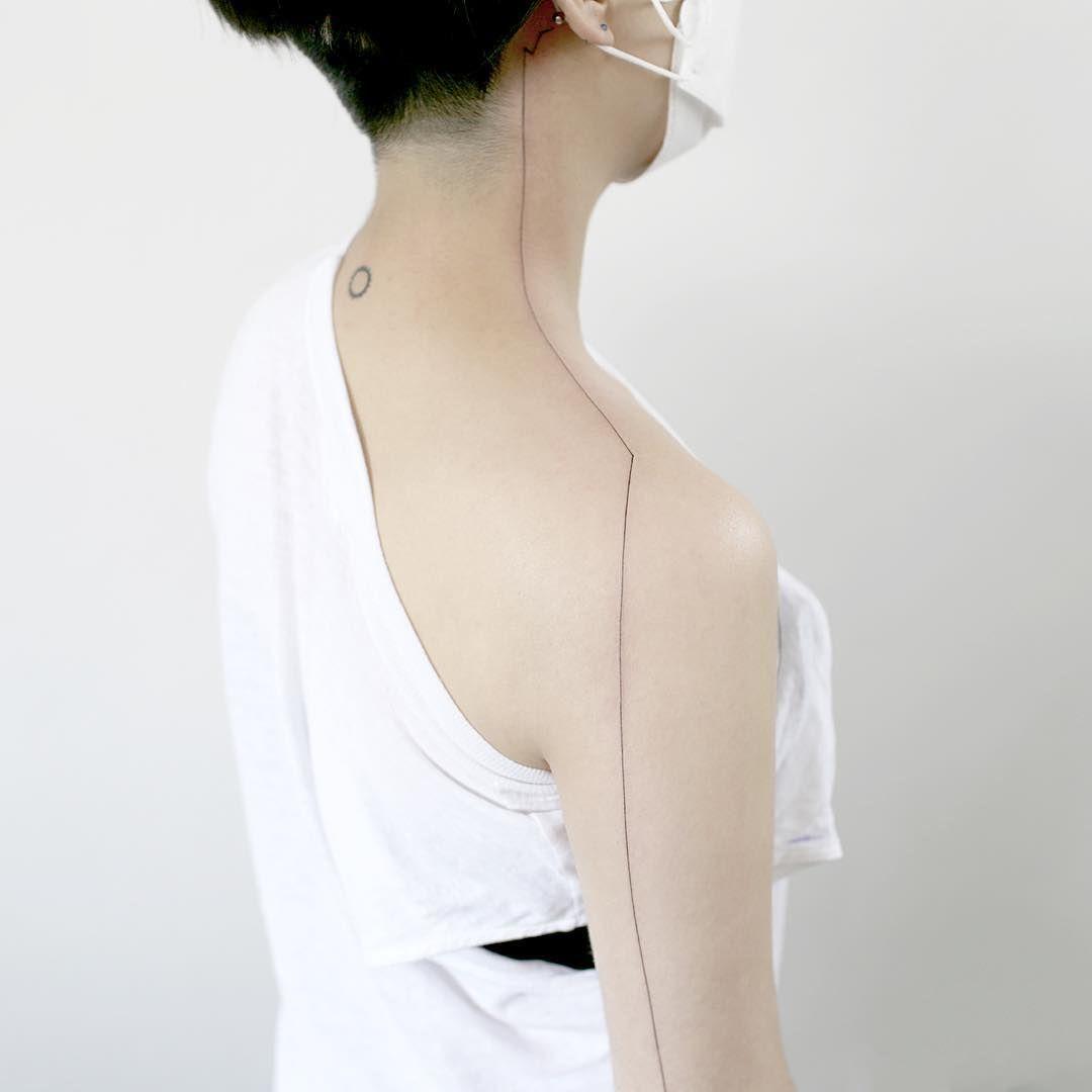 : Long~ line tattoo