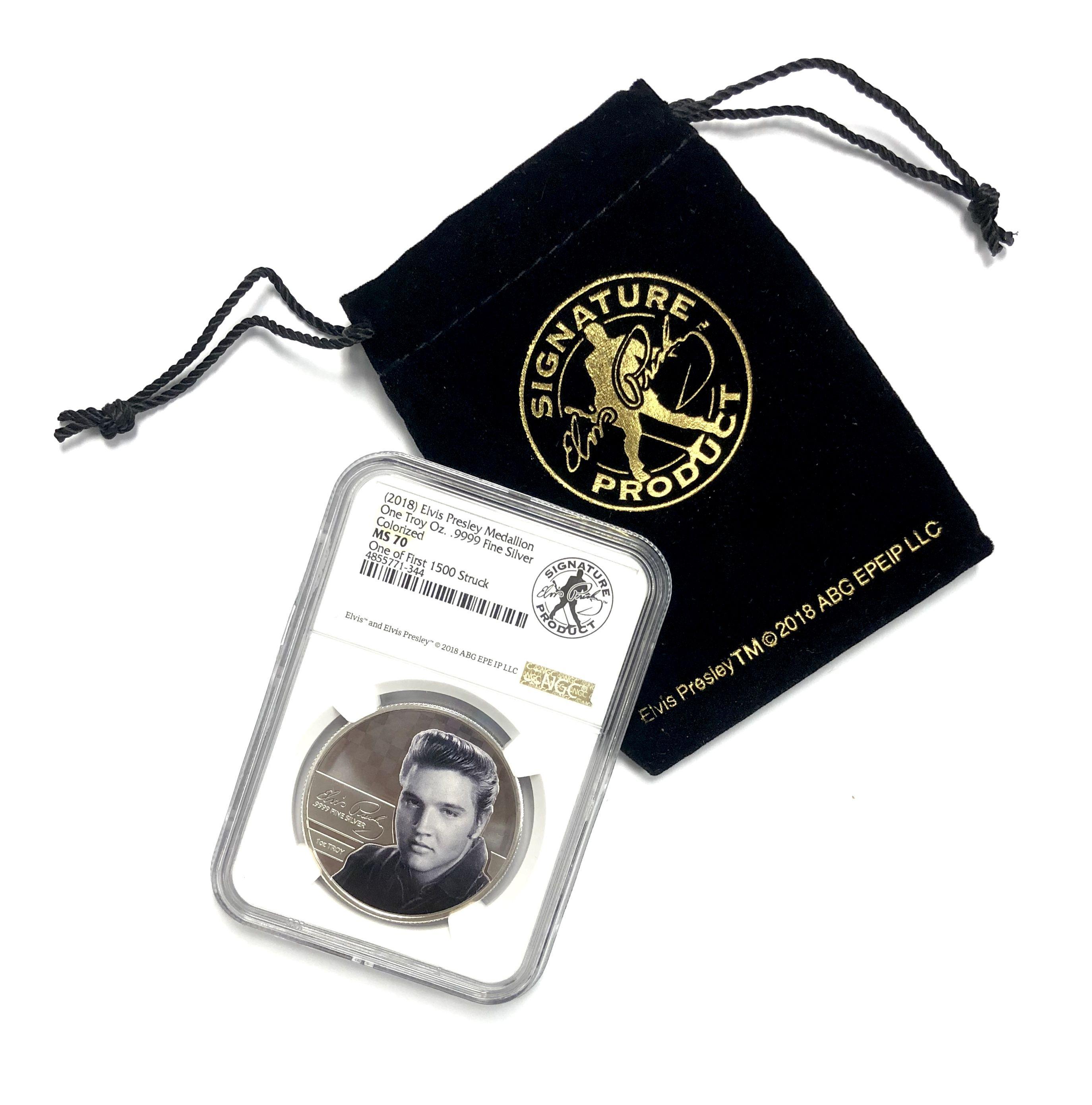 Elvis Presley Silver Medallion