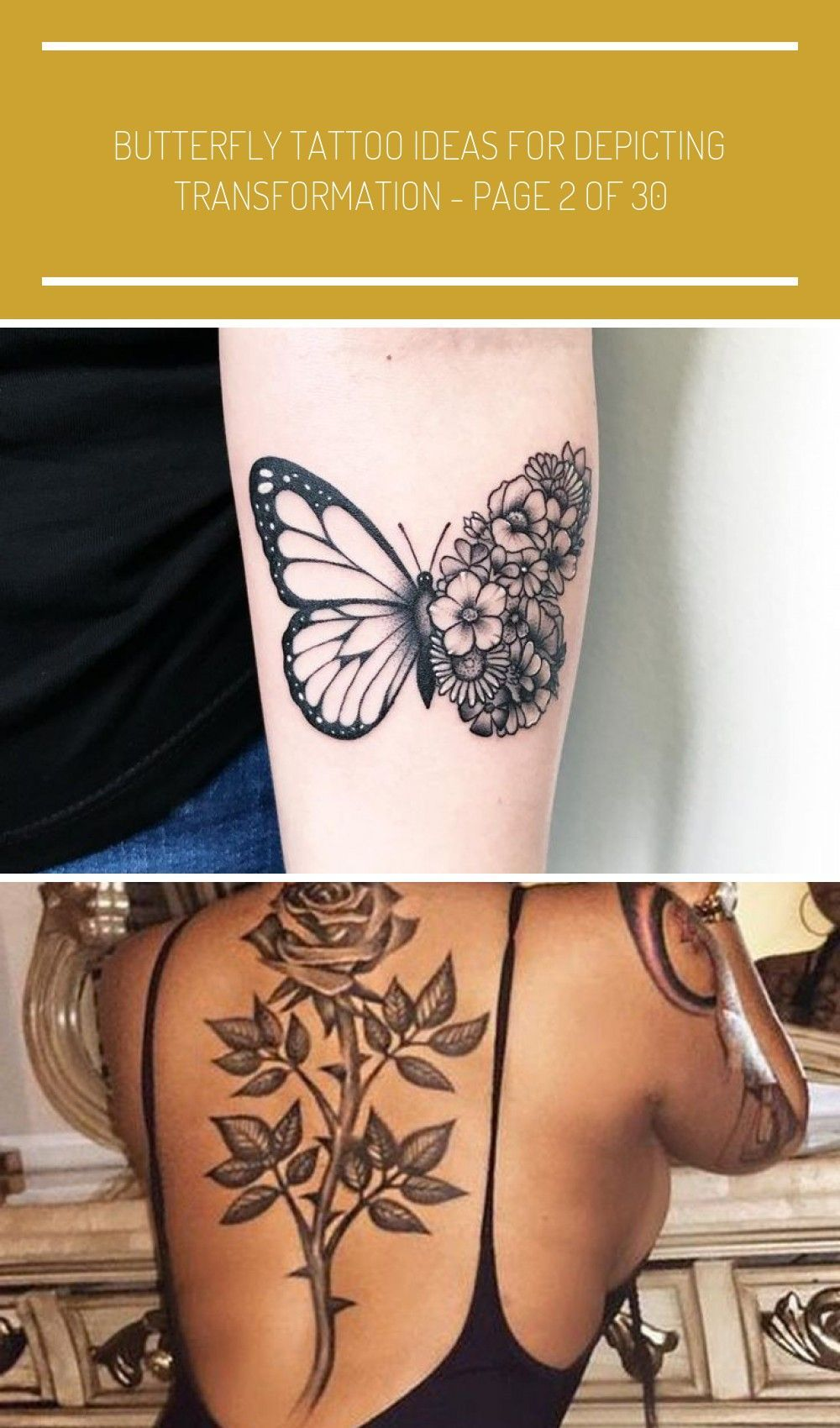 Butterfly Tattoo Ideas for Depicting Transformation tattoos,tattoos for women,ta… - Famous Last Words