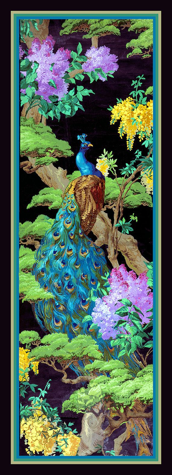 Peacock in Tree Large Refrigerator Magnet  FREE US by LABELSTONE, $6.25