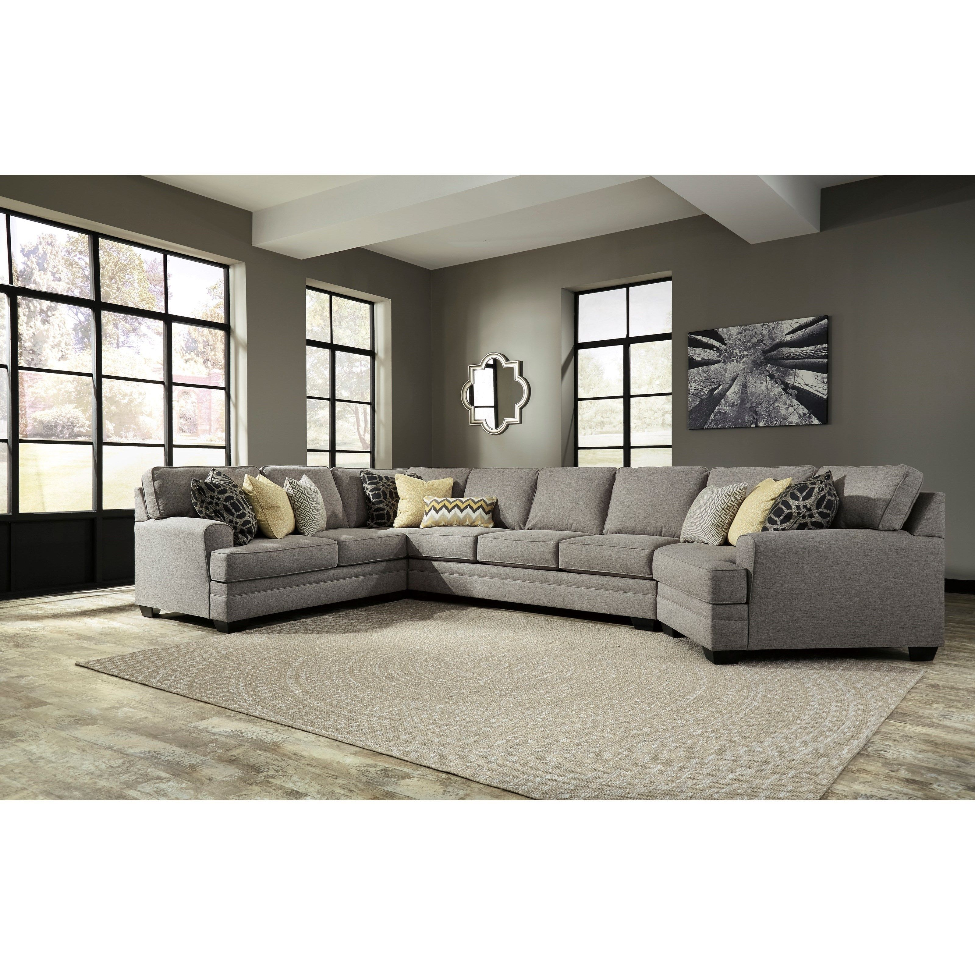 Cresson Contemporary 4 Piece Sectional W Cuddler Armless Sofa By Benchcraft Furniture Mattress Furniture Sectional Sofa