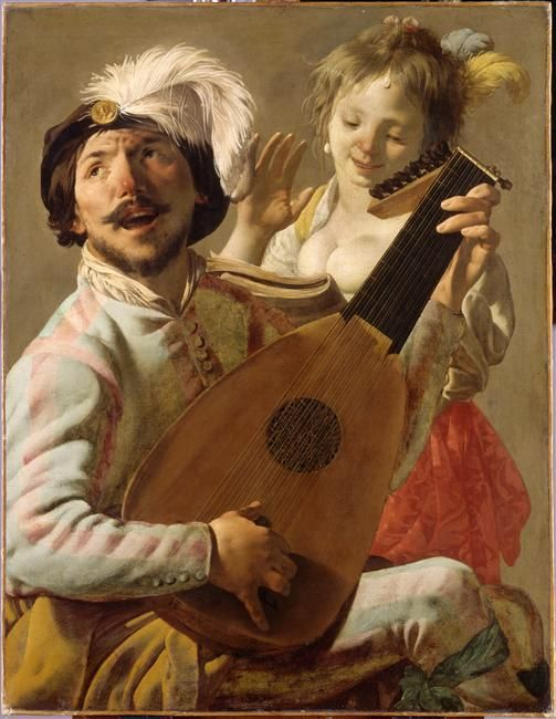 Hendrick Ter Brugghen (1588-1629), 'Le Duo'.