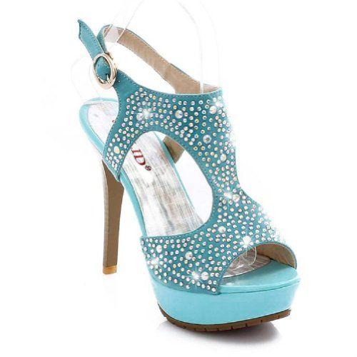 65da10881426 Brand New Fashion Rhinestone Womens Platform High Heels Peep Toe Sandals  Shoes (4.5 (