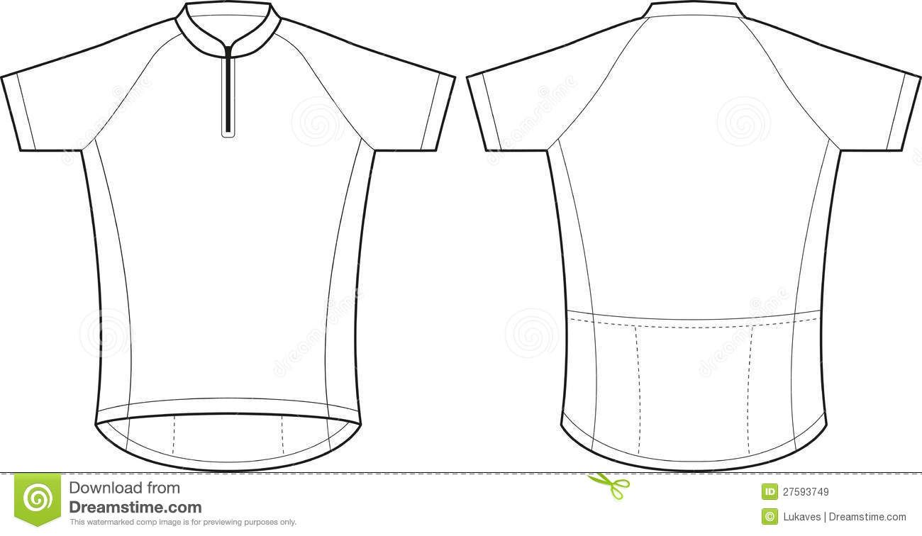 Cycling Jersey Stock Vector Illustration Of Wearing 27593749