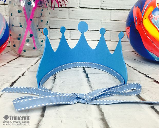 Kids Craft Foam Crown Tutorial with Free Printable Template