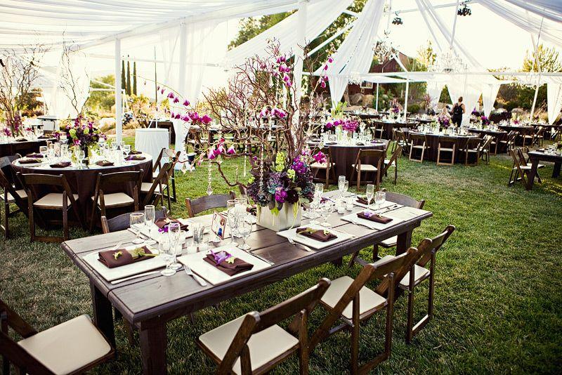 Photo via Round table wedding, Reception and Wedding - wedding reception setup with rectangular tables