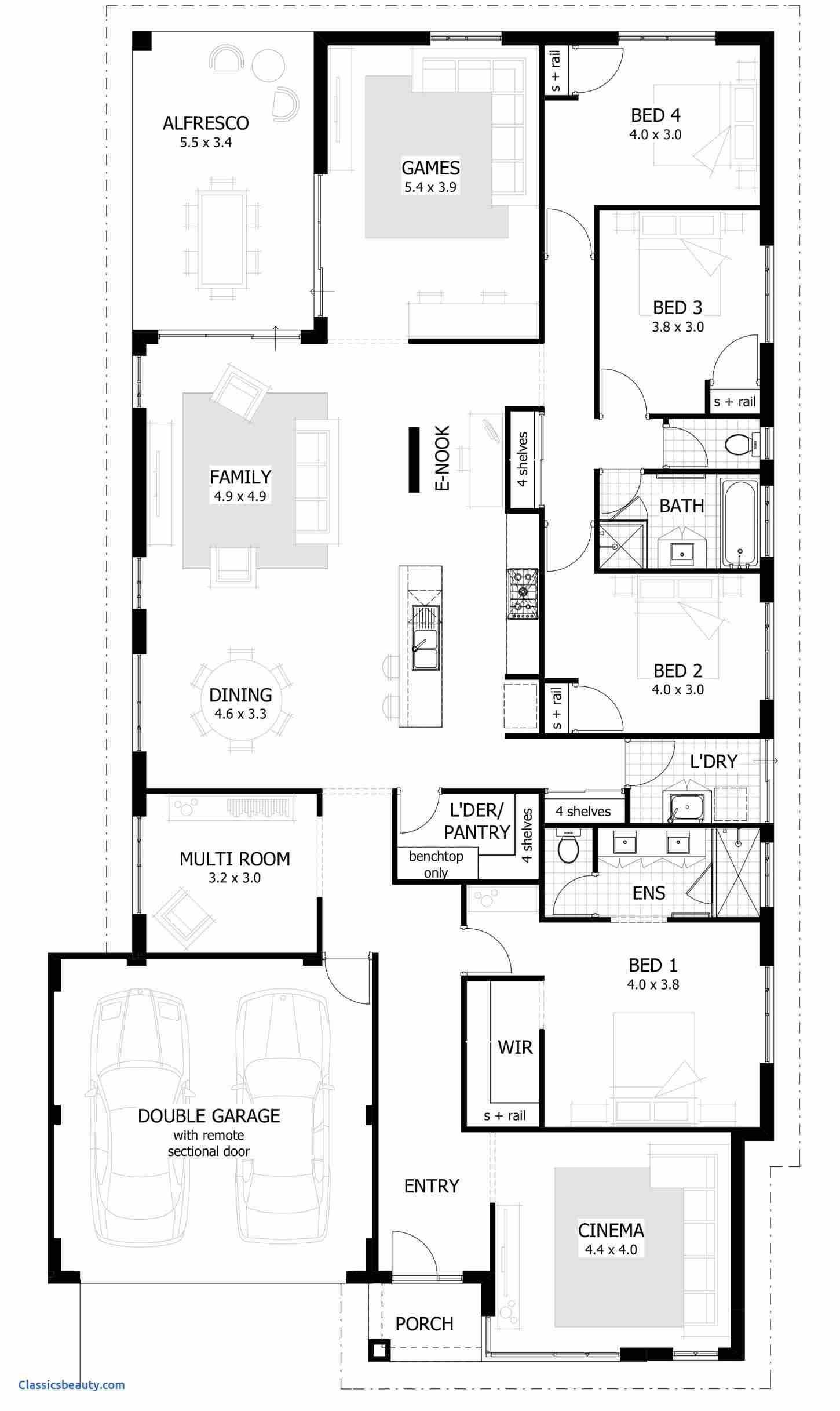 3 Bedroom House Plans 3d Denah Lantai Denah Lantai Rumah Denah Rumah