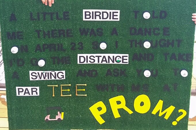 Golf promposal #hocoproposals