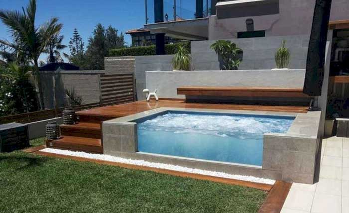 25 Cocktail Pool Design Ideas For Small Outdoor Spaces Small Pool Design Small Above Ground Pool Small Backyard Pools