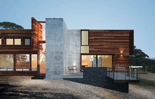 Contemporary house on Behance