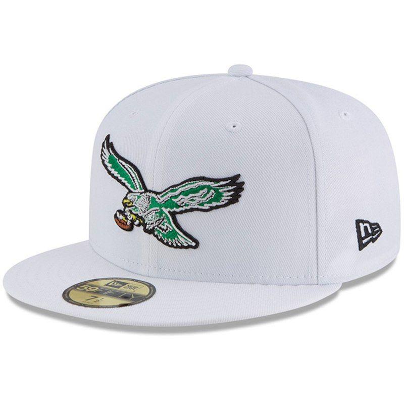 c8b96383 Philadelphia Eagles New Era Throwback Logo Omaha 59FIFTY Fitted Hat ...