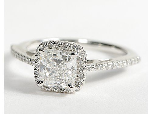 This Is It The Ribg Of My Dreams Cushion Cut In Halo Setting