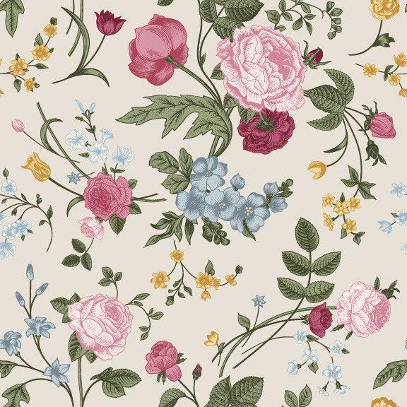 Spring Bouquet| Removable Wallpaper| WallsNeedLove